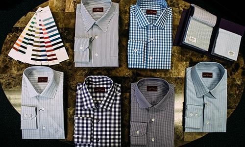 Custom Tailored Mens Shirt Selection Green Bay WI