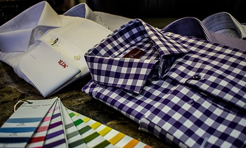 Custom Tailored Plaid Shirt Master Rudolph Tailor Green Bay WI