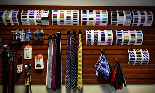 Master Rudolf Tailor Fabric and Tie Selection Green Bay WI